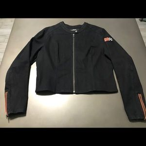 Women's Harley-Davidson Black Cloth Jacket Size XL